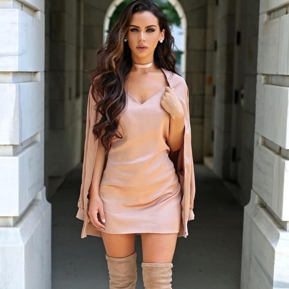 9c57f62e7fdb0 Missguided Dresses | Nwt Pink Satin Slip Dress | Poshmark